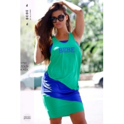 BEBE zöld-kék ruha